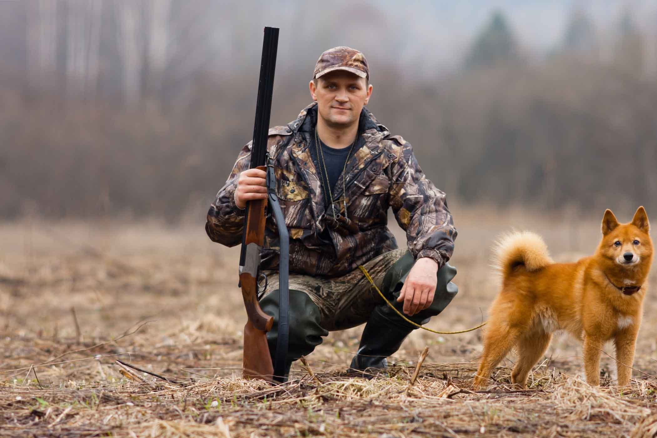 Татарском языке, картинка охотник с собакой
